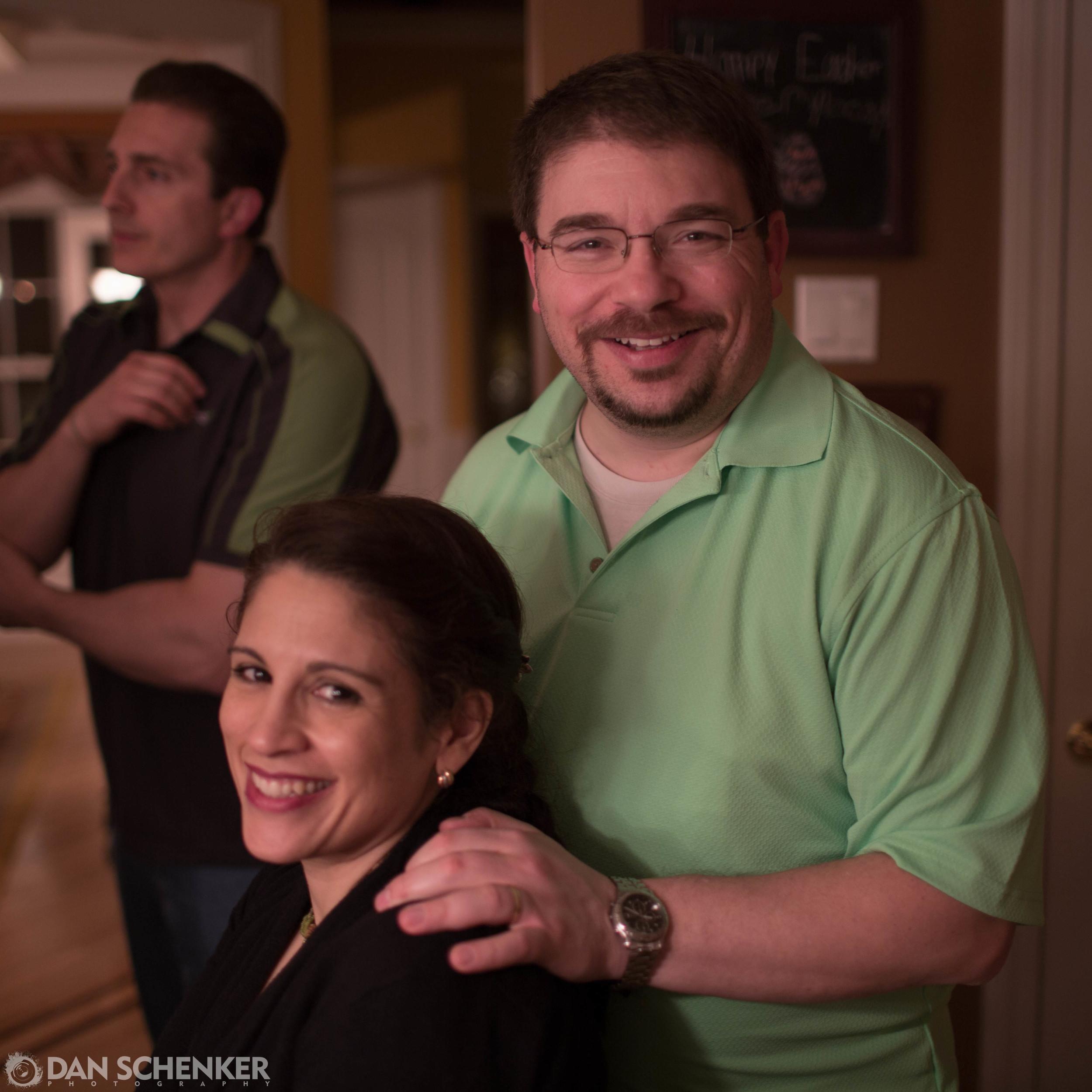 D'aww, it's Alicia and Dan celebrating Alicia's promotion.