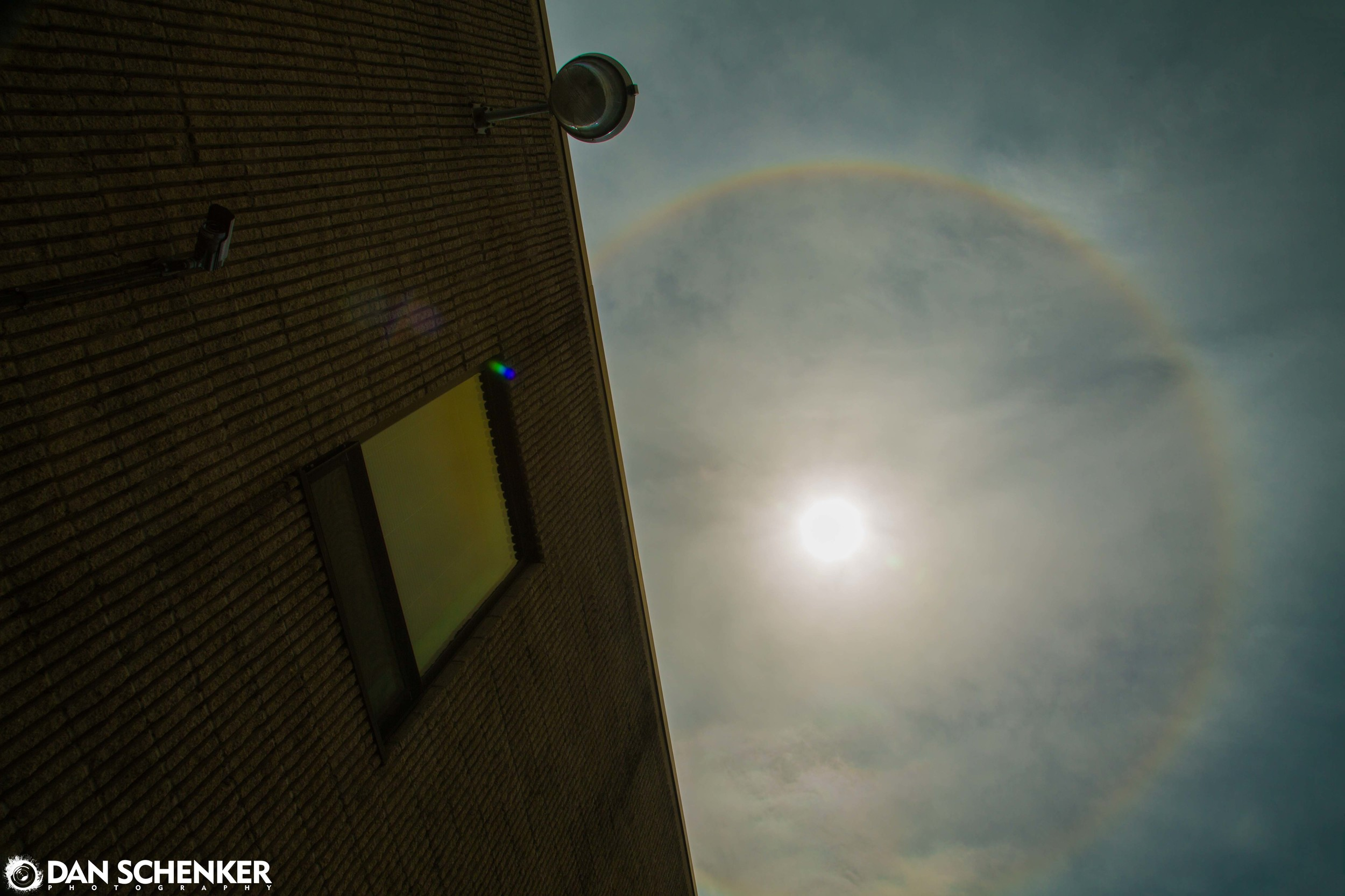 """The """"Ring Around the Sun,"""" as seen from Unique Photo in Fairfield, New Jersey on May 14th, 2013."""