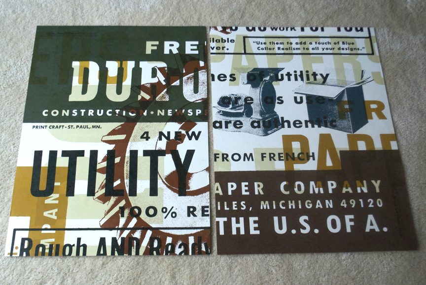 FPC Dur-o-tone posters.
