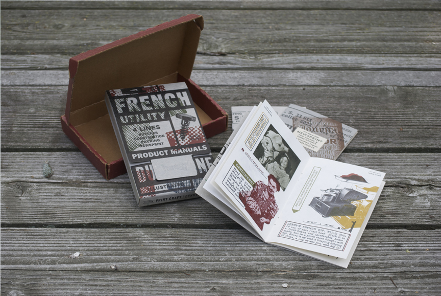 Folder on left houses FPC booklets that feature various paper stocks.