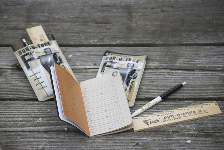 Pocket protector, address book, pen and ruler. Just because.