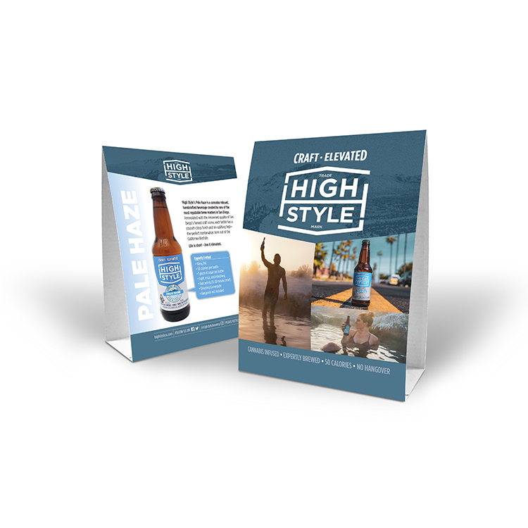 High Style Brewing Co. promotional table tents