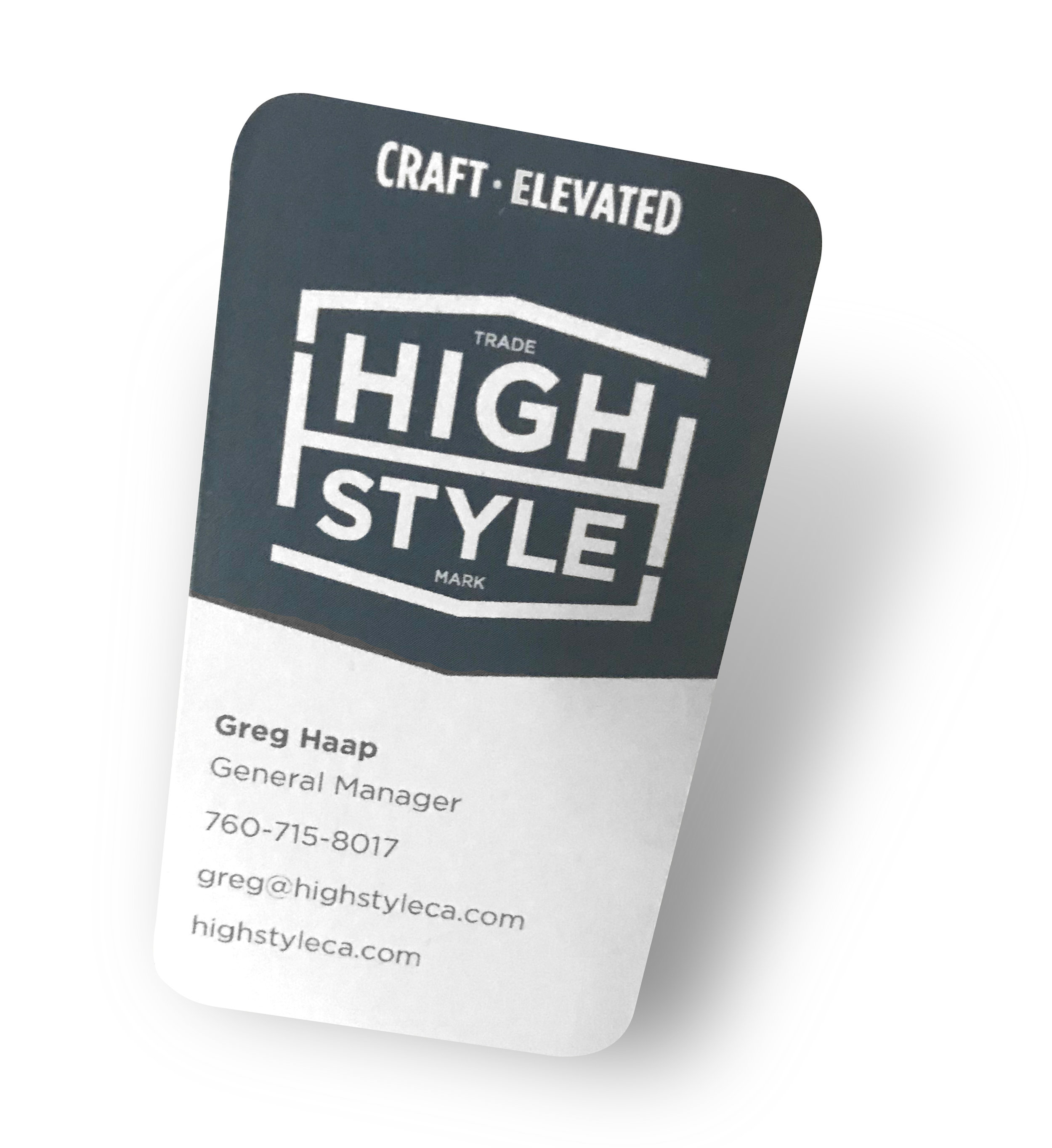 High Style Brewing Co. Business Card