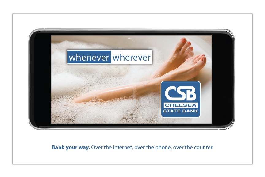 Chelsea State Bank advertising campaign