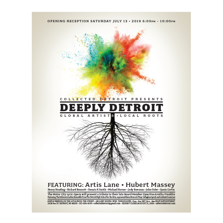 Collected Detroit: Deeply Detroit Exhibit print ad and poster