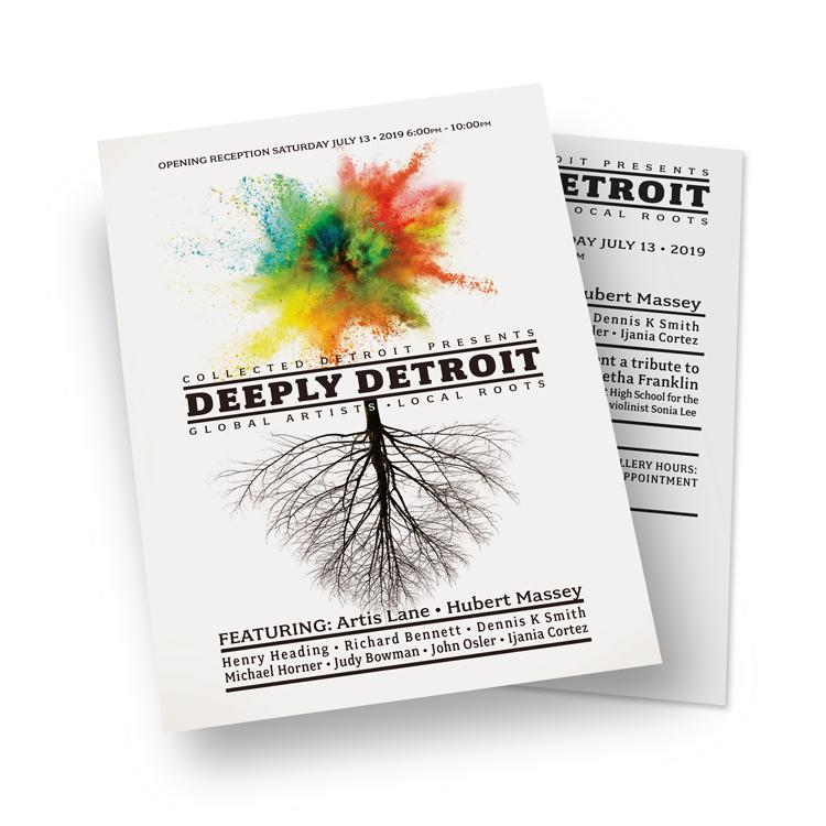 Collected Detroit: Deeply Detroit Exhibit poster