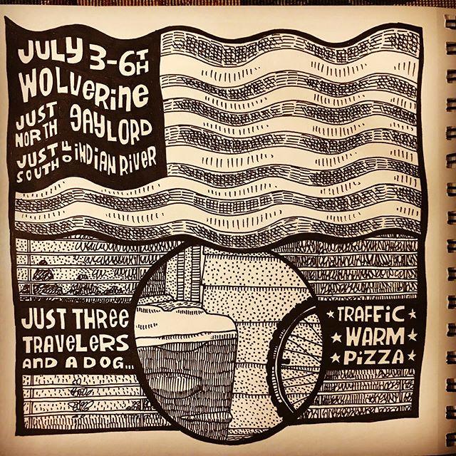Drawing journal 1: July 4 week. #12acrestudio #drawingjournal #july4 #july4week #upnorth #wolverinemichigan