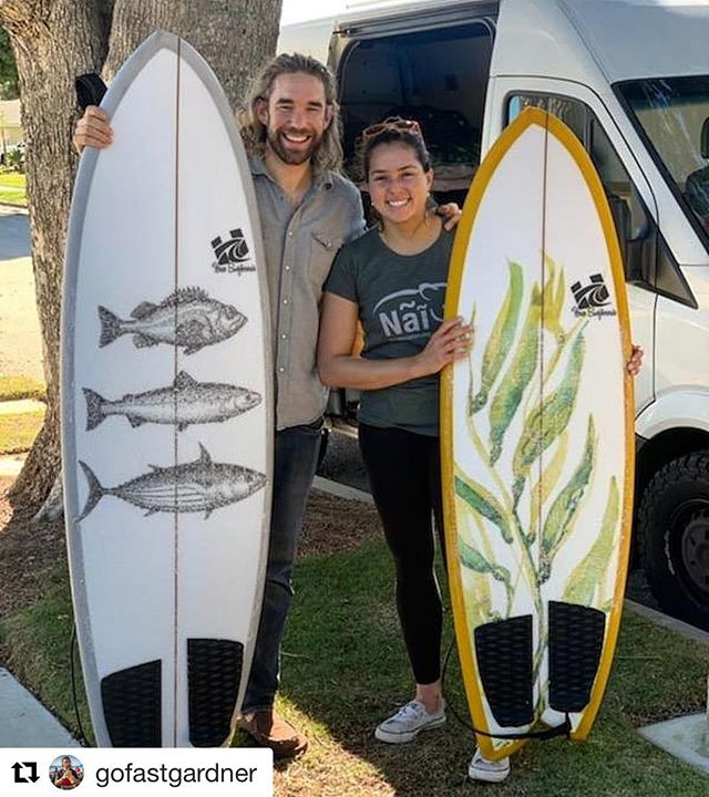 Stoked to get these asyms to @gofastgardner and @julis_herrera! 😊 🤙 ・・・ Some snazzy new @hazesurf #asym #fish for @julis_herrera and me! Couldnt be more stoked on how they turned out. Time for some big winter surf.... . . #haze #hazesurf #hazesurfboards #surf #customsurfboards #designsbyhaze #surfdesign #surfboard