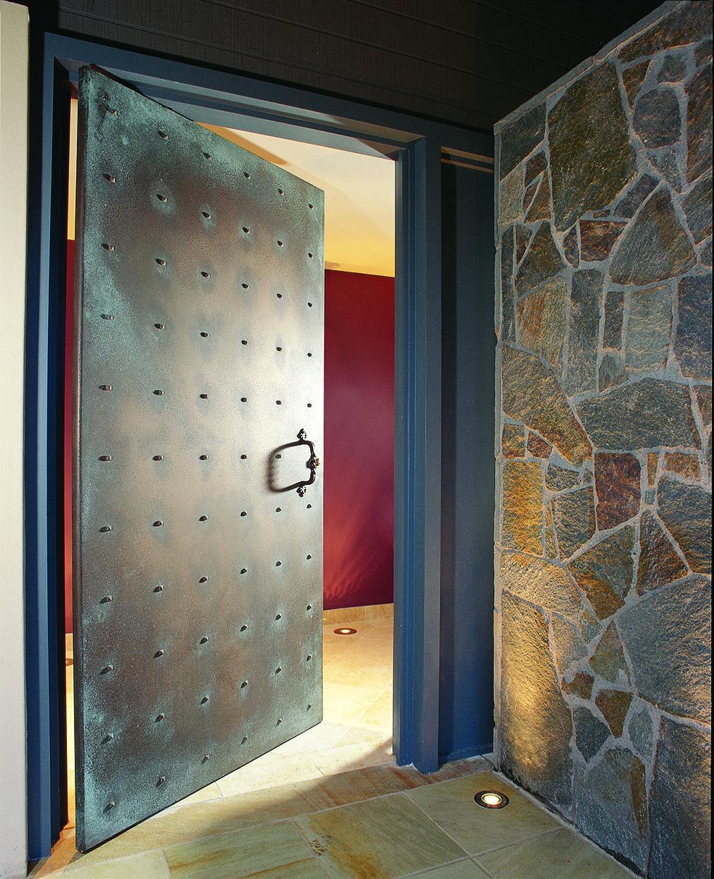 Stud Door Bronze Patina