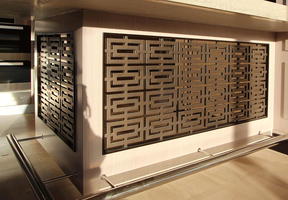 Screen coated in Treasury Bronze Lunar
