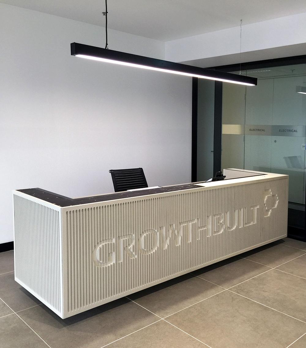Growthbuilt Counter - Concrete Shale on Doric Profile
