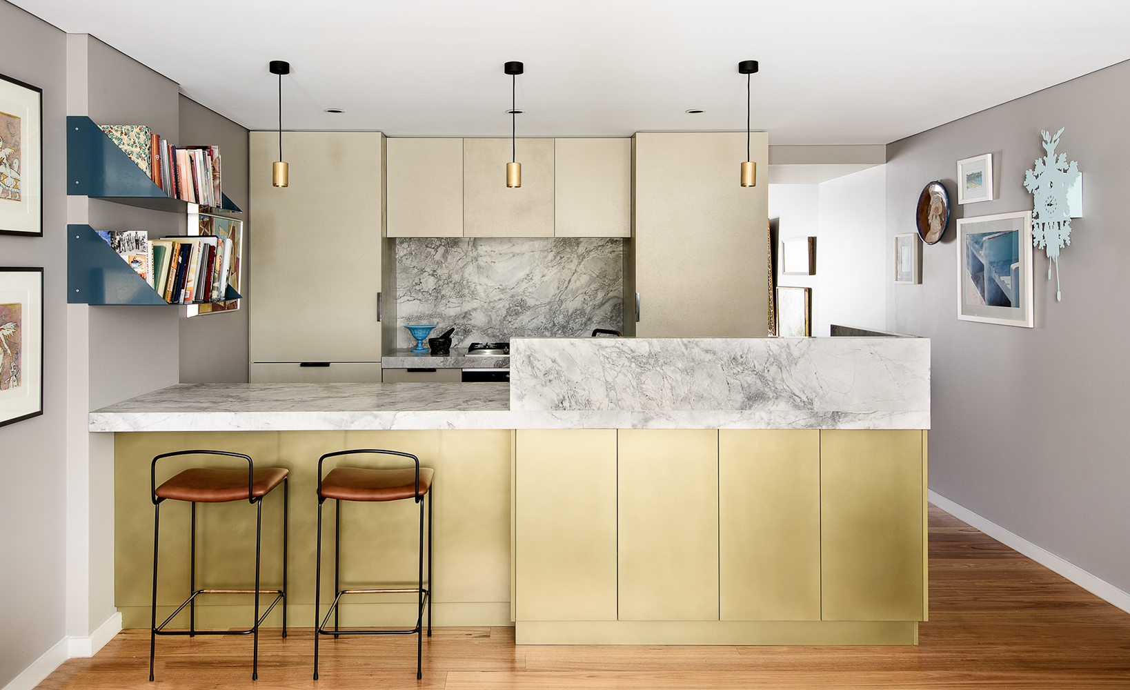 Brett Mickan Interior Design | Brass Pseudo Smooth & Concrete Shale Cast