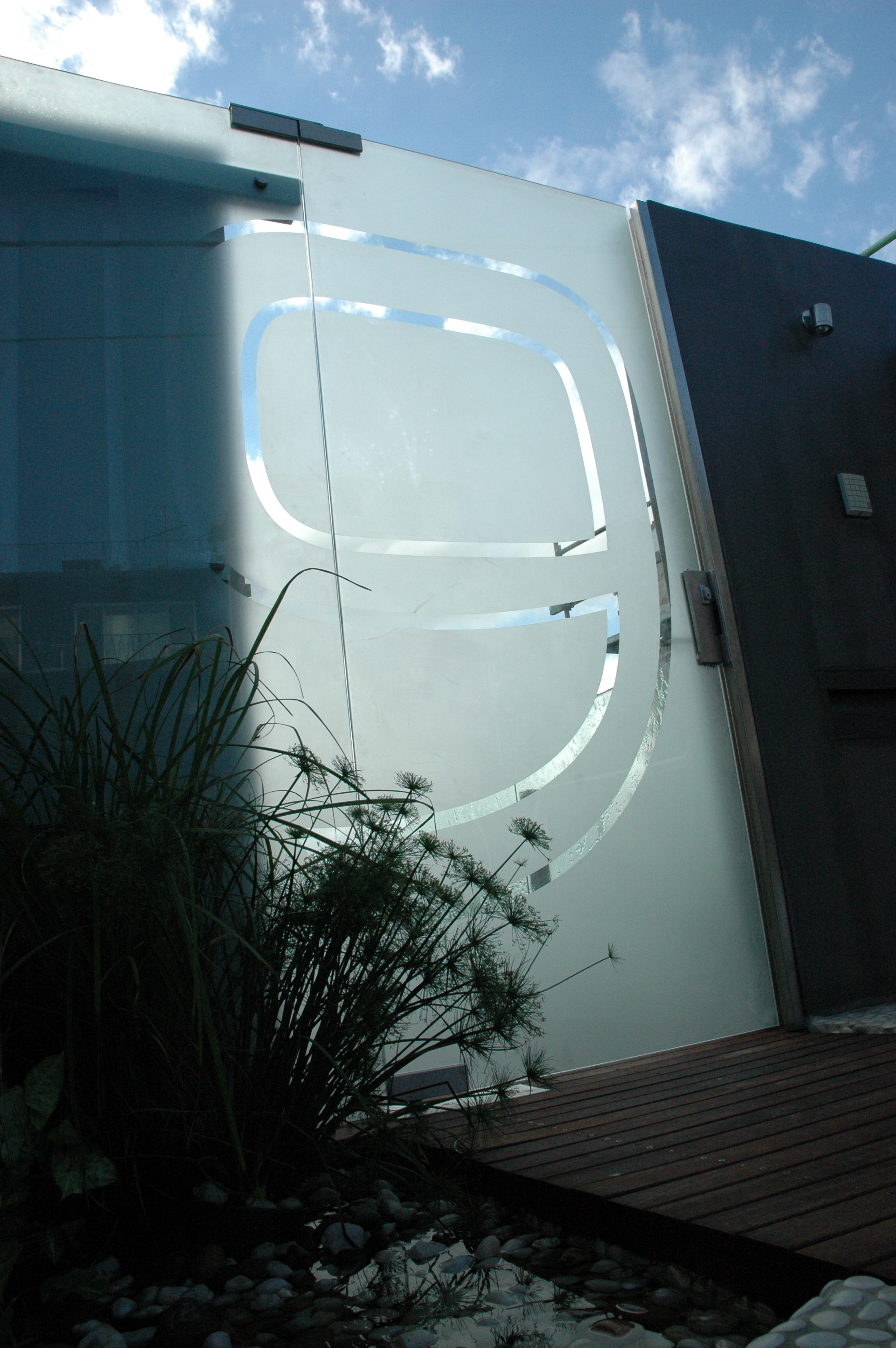 Etched Glass Gate