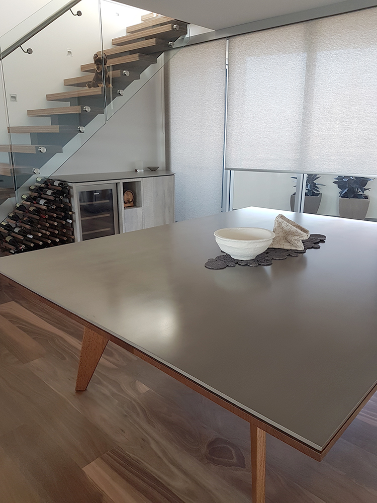 Nickel Smooth Linish Table Top