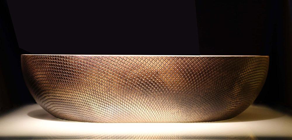 Brass Viper Brown Florentine