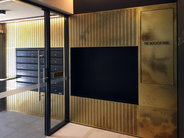 Perforated Brass Pearl Sheet Metal