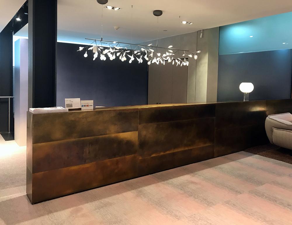 Space Furniture Counter | Brass Brown Florentine Tarnish