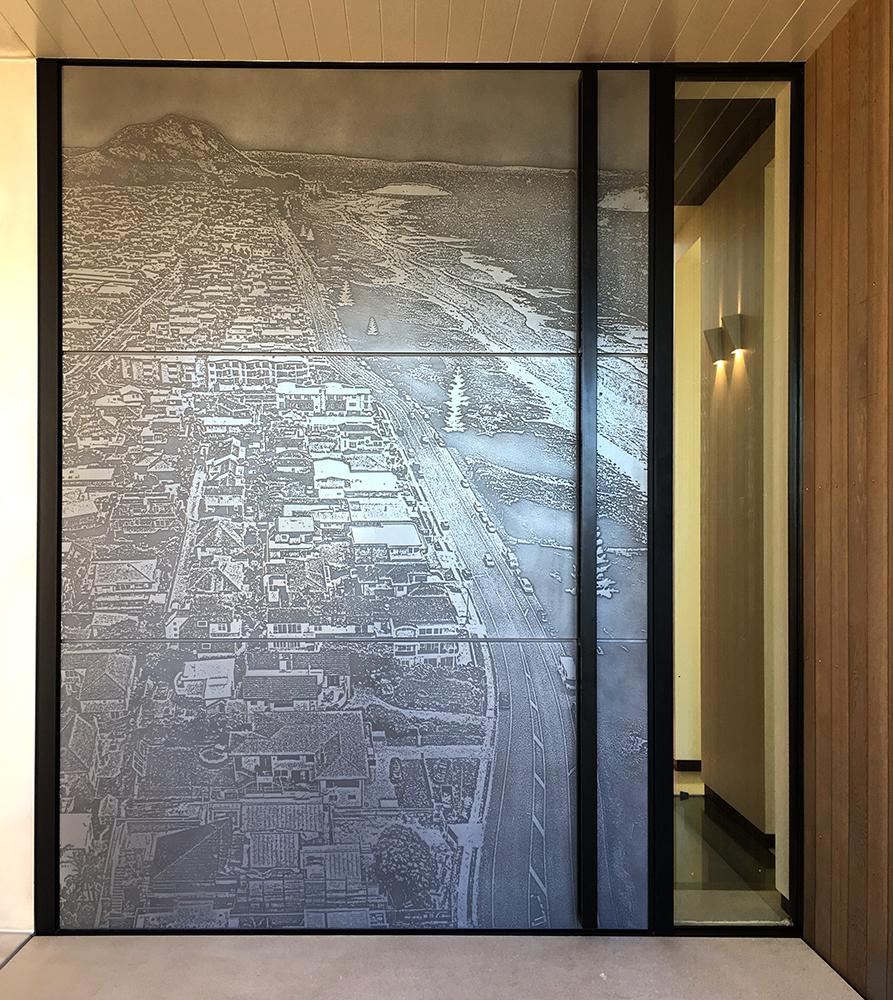 3D Printed Mount Mauganui Door | Aluminium Antique