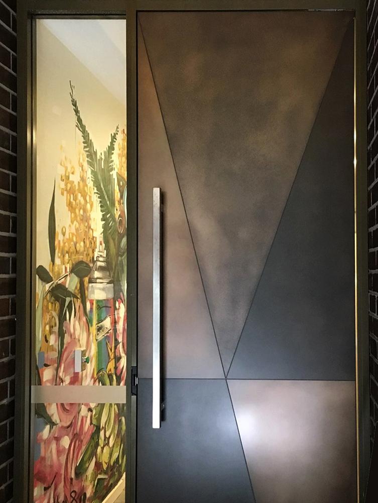 Treasury Bronze Combination Door