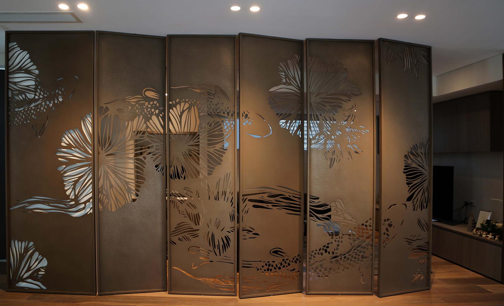 Koi Screens | Bronze Light Texture