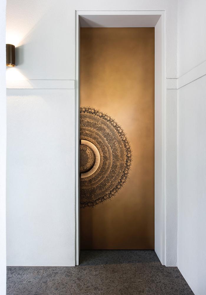 Splice Door Gold Bronze Florentine | Nina Maya Glasshouse