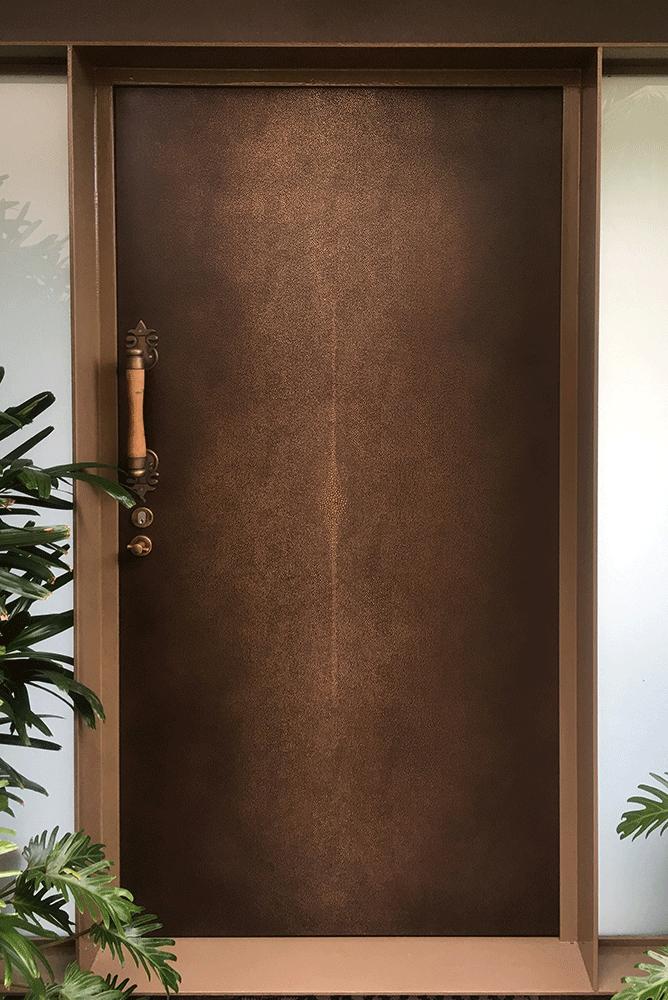 Shagreen Door | Gold Bronze Double Brown Florentine