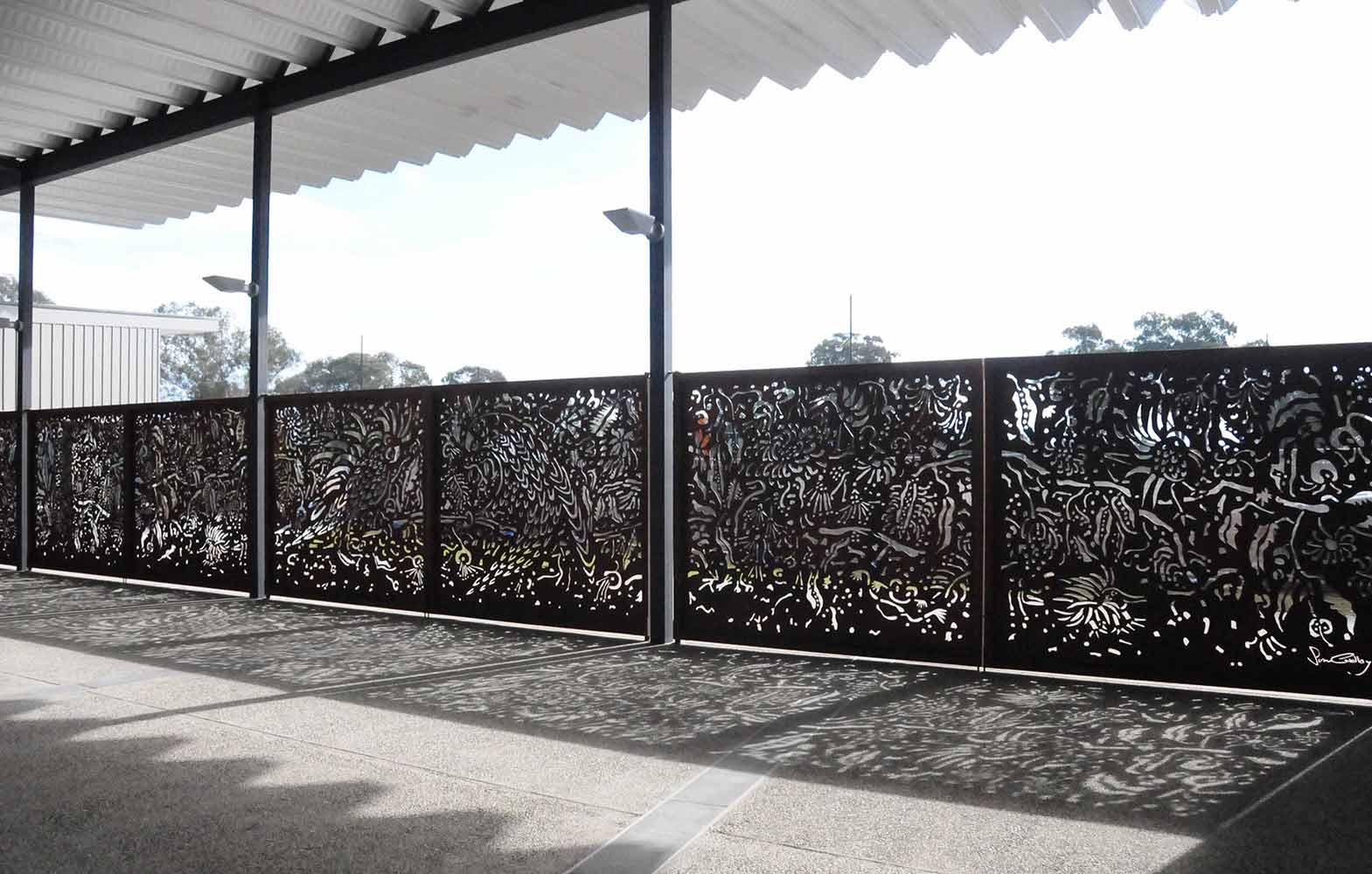 Susan Cadby Artwork Ropes Crossing | Brown Rust Screens