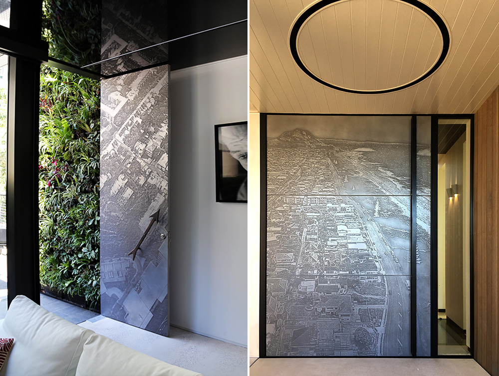 3D printed doors are just the beginning of what this new technology can offer. Left: Grand Designs by Chris Knierem - Design Construct (Photograph by Belinda Knierem) Right: Smith Residence in New Zealand by Di Smith (Photograph by Di Smith).