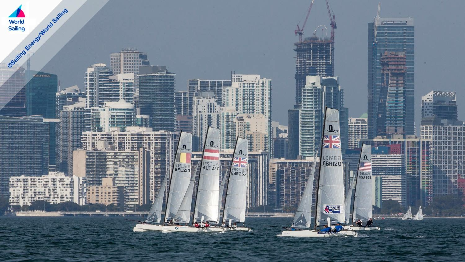 Boats and Skyscrapers. Photo Sailing Energy