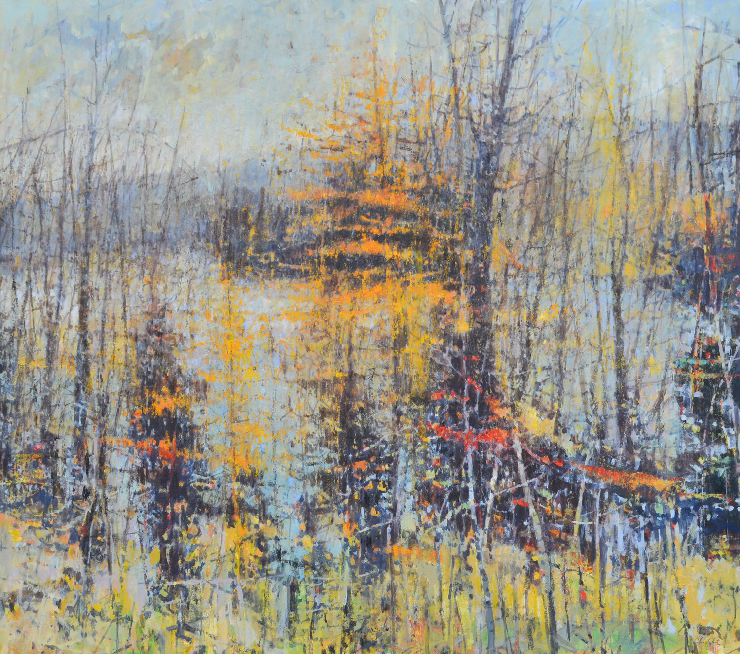 "Lake Winola,  William Chickillo, 48"" x 55"" oil on canvas on wood panel"