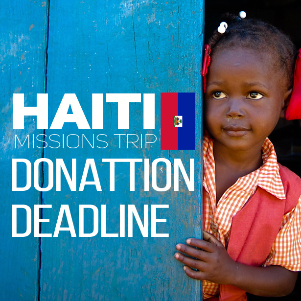 Items are needed for the Haiti mission trip! Support the team by donating: travel size shampoo, soap, toothbrushes, toothpaste, gallon size ziplock bags, construction paper, non-glossy paper plates, markers, crayons, colored pencils, glue sticks, cotton balls, stickers, squiggly eyes, coloring books, beads, twine. Please bring items by Sun.10/30 to the boxes in The Gathering Place or Fellowship Hall.