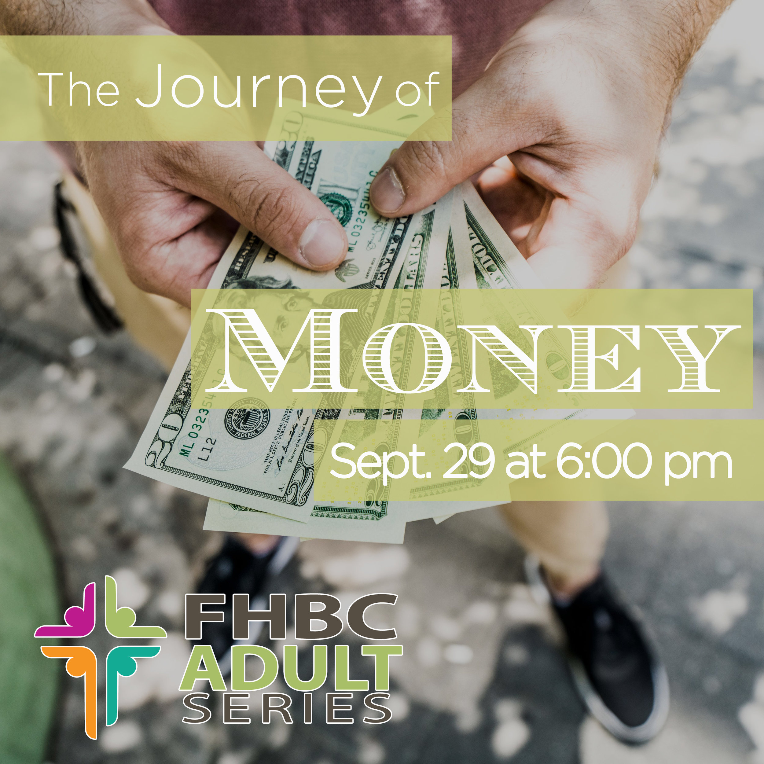 "Adult Program Series - September 29, 2017 - 6pm dinner and 7pm program. Cost $10 per person, reservations required. ""The Journey of Money"" the fascinating story of where, when, and why it was invented, how it developed, and what its future might be. All ages are invited."