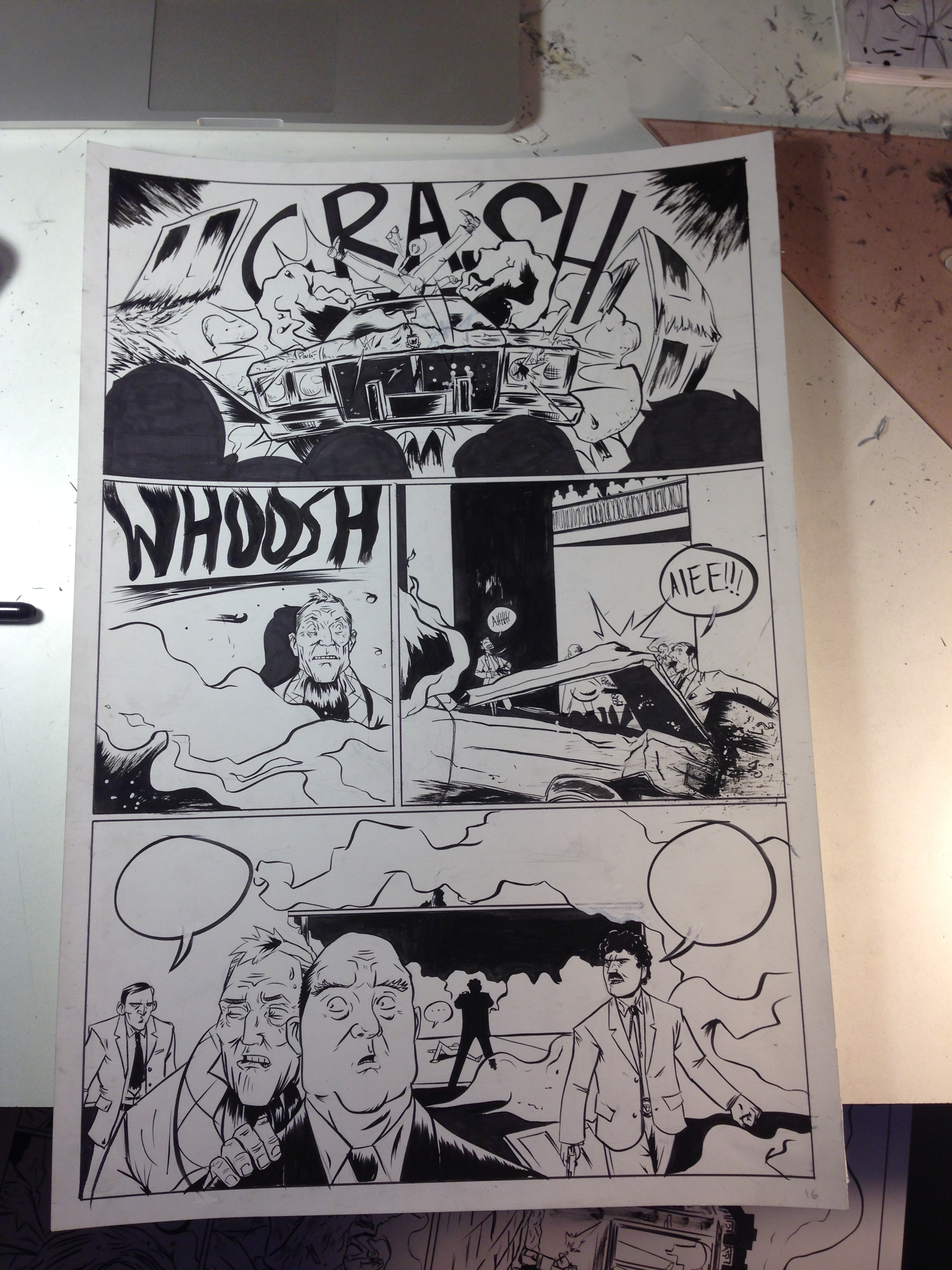 CRASH!  15x22 Bristol Board  $200/OBO