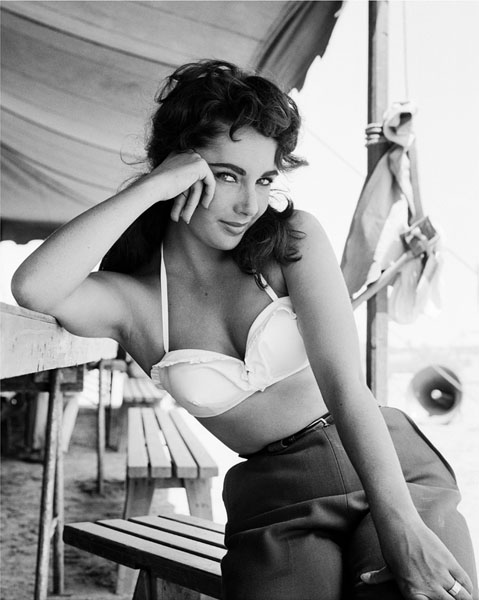 On the set of Giant, 1955
