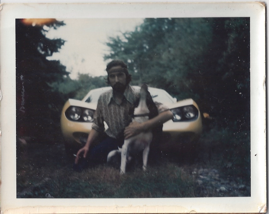 My dad with his dog and one of his favorite cars.
