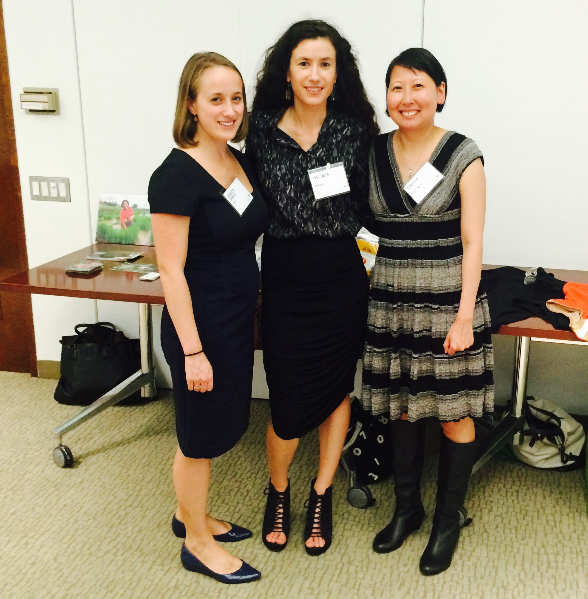 J essica Feingold of Kiva Zip, Melinda of Mirame, and Cyrilla of  Nuts Plus Nuts