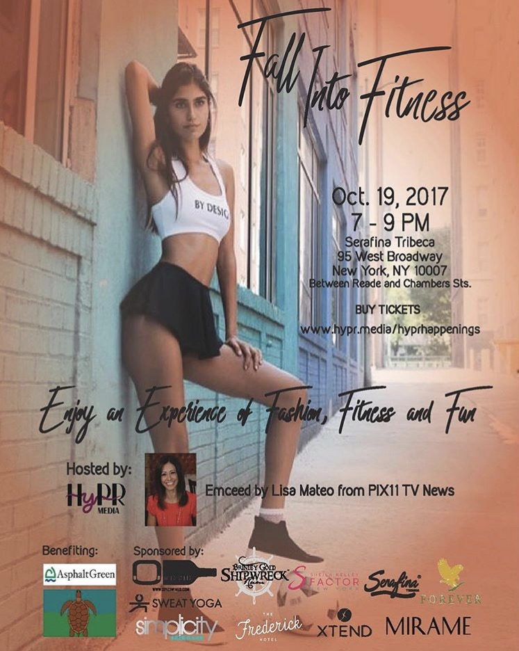 Want to meet Monte? Join us this Thursday for the  #FallintoFitness  event at  Serafina Tribeca . For tickets visit: https://hyprmedia.thundertix.com/events/113981 . Use code HYPRFB50 for 50% off until 10/18.