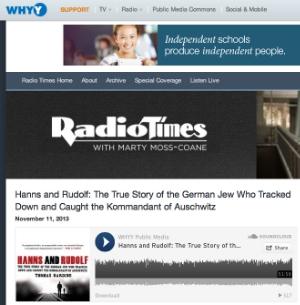 Radio Times, NPR Philadelphia, 11 Nov 2013 (one hour interview) (USA)