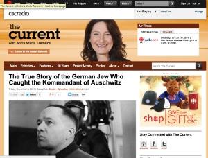 CBC 'Current' show 8Nov 2013 one hour interview (Canada)