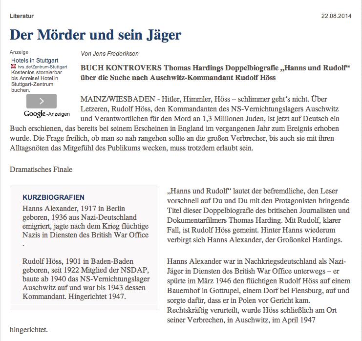 Allgemeine Zeitung 22 Aug 2014