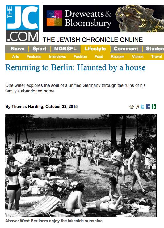 Jewish Chronicle 22 October 2015