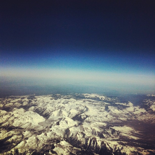 pyrenees from the flight deck