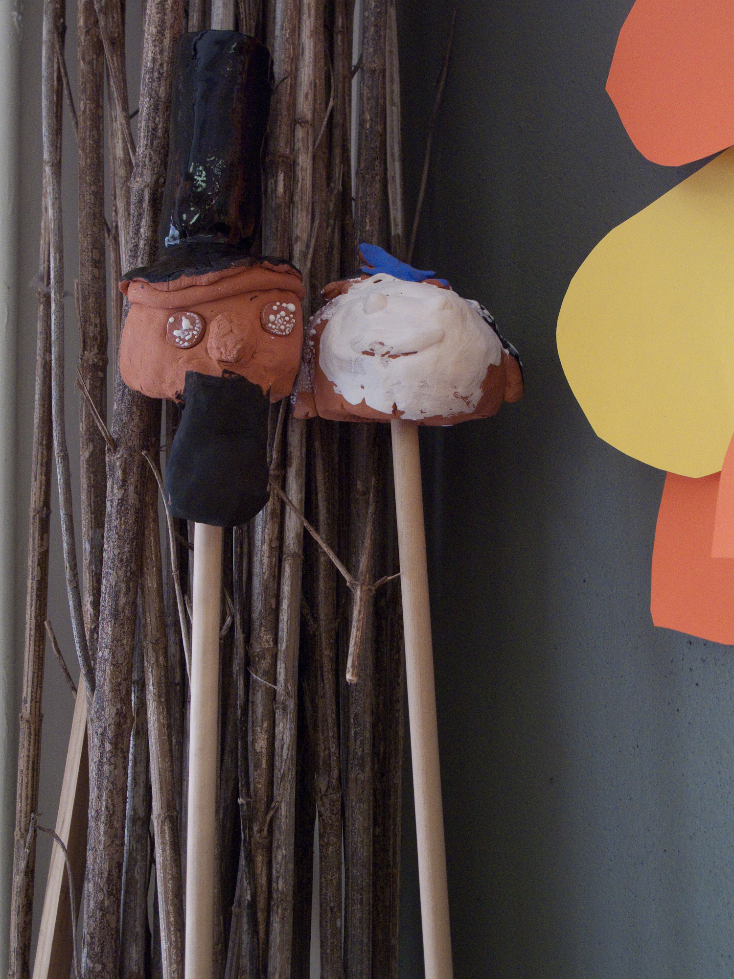 Puppets.     Castletree Camp.  2012  Ceramic, wood