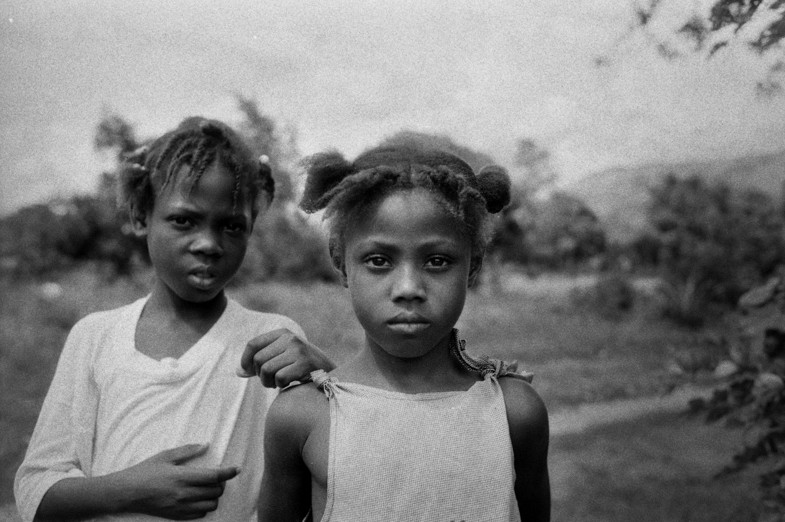 Sisters.   Cange, Haiti. 2009  35 mm B&W film