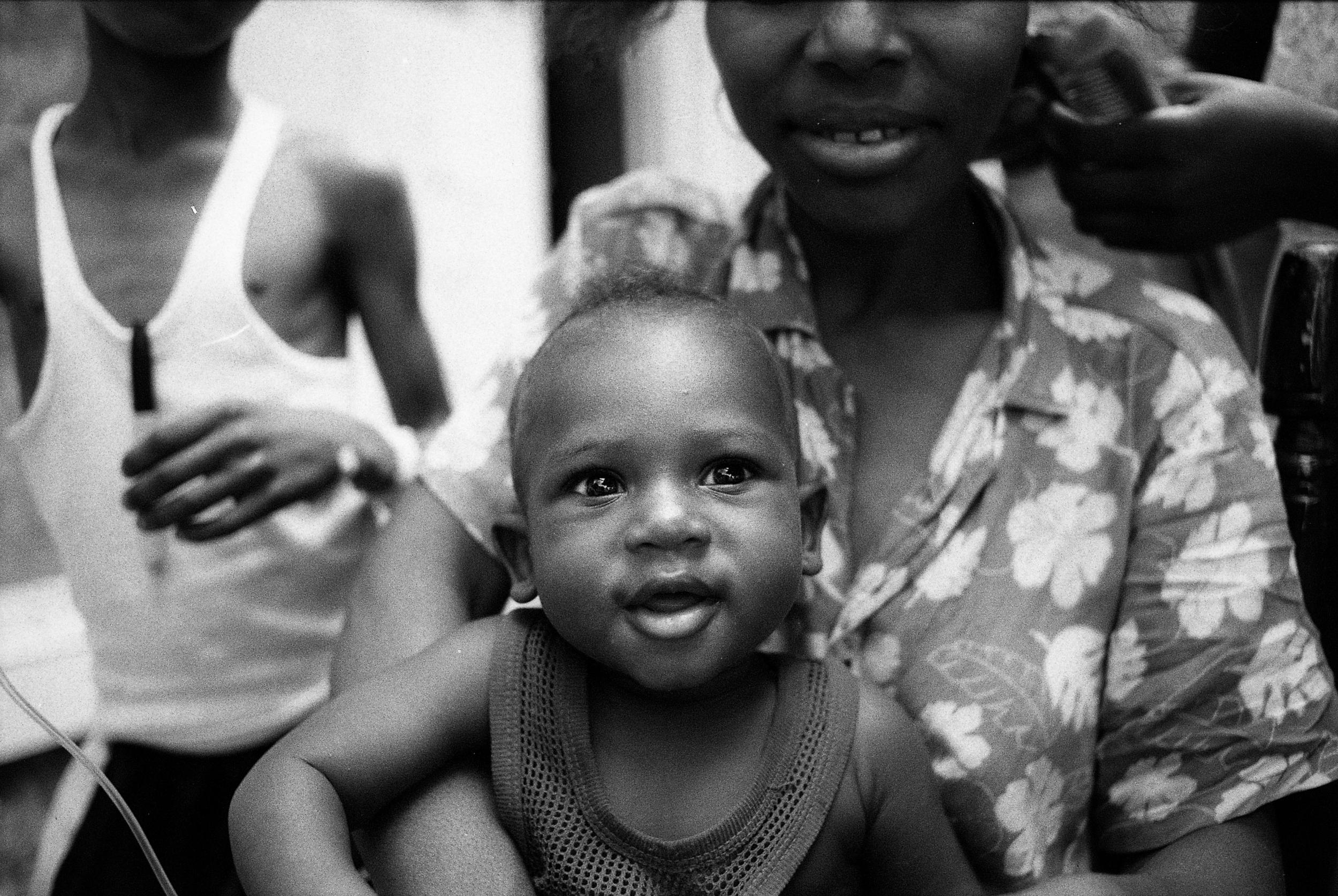 Jude. Brother. Mother.   Zanmi Lasante. Cange, Haiti. 2009  35 mm B&W film