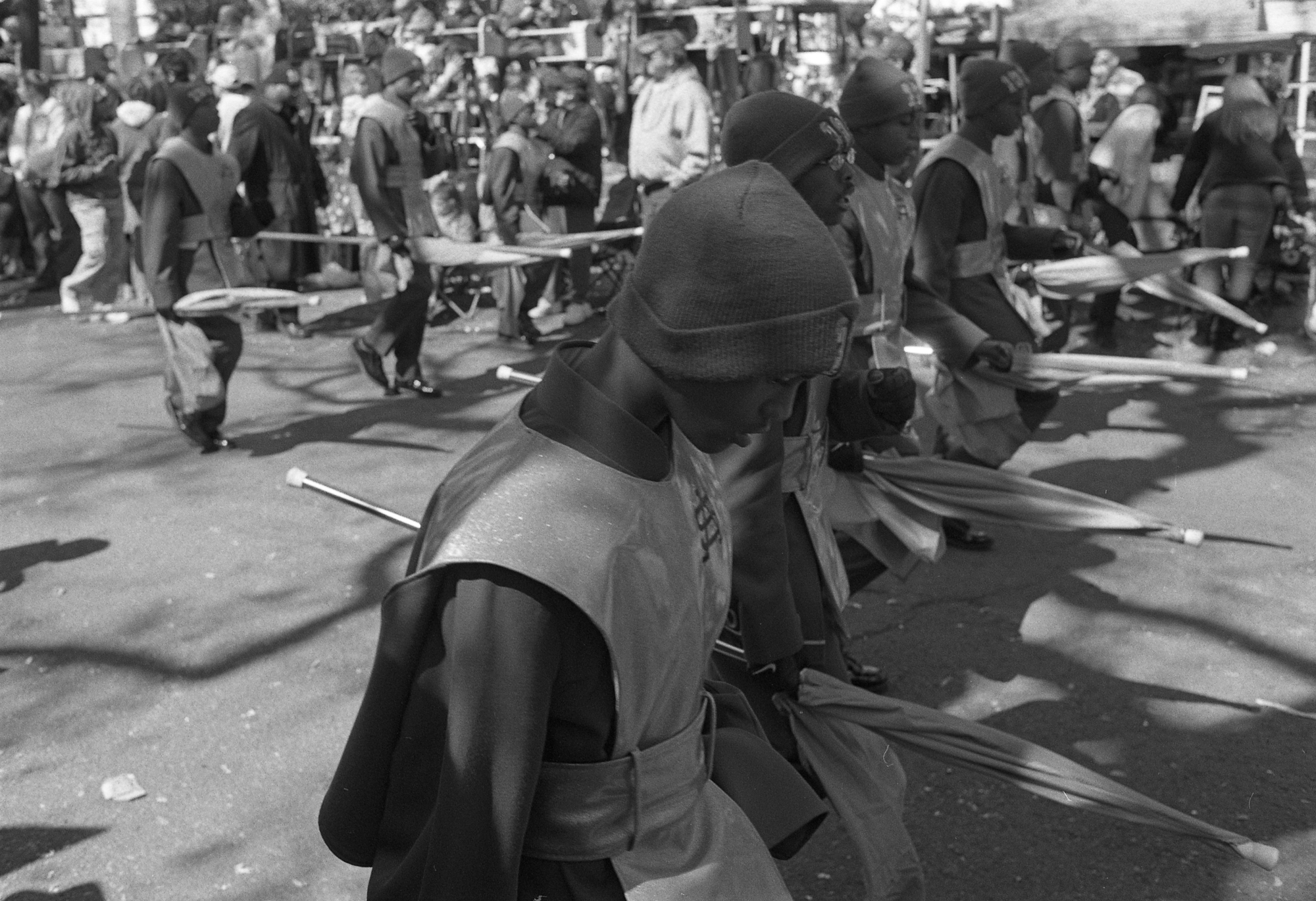 Carnival's Soldiers.     New Orleans, LA. 2010  35 mm B&W film.