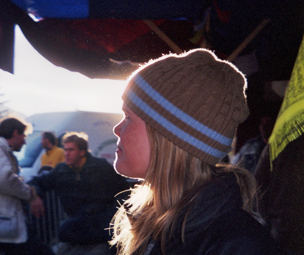 Erin in La Grave when she was 17.  April 4, 2004.