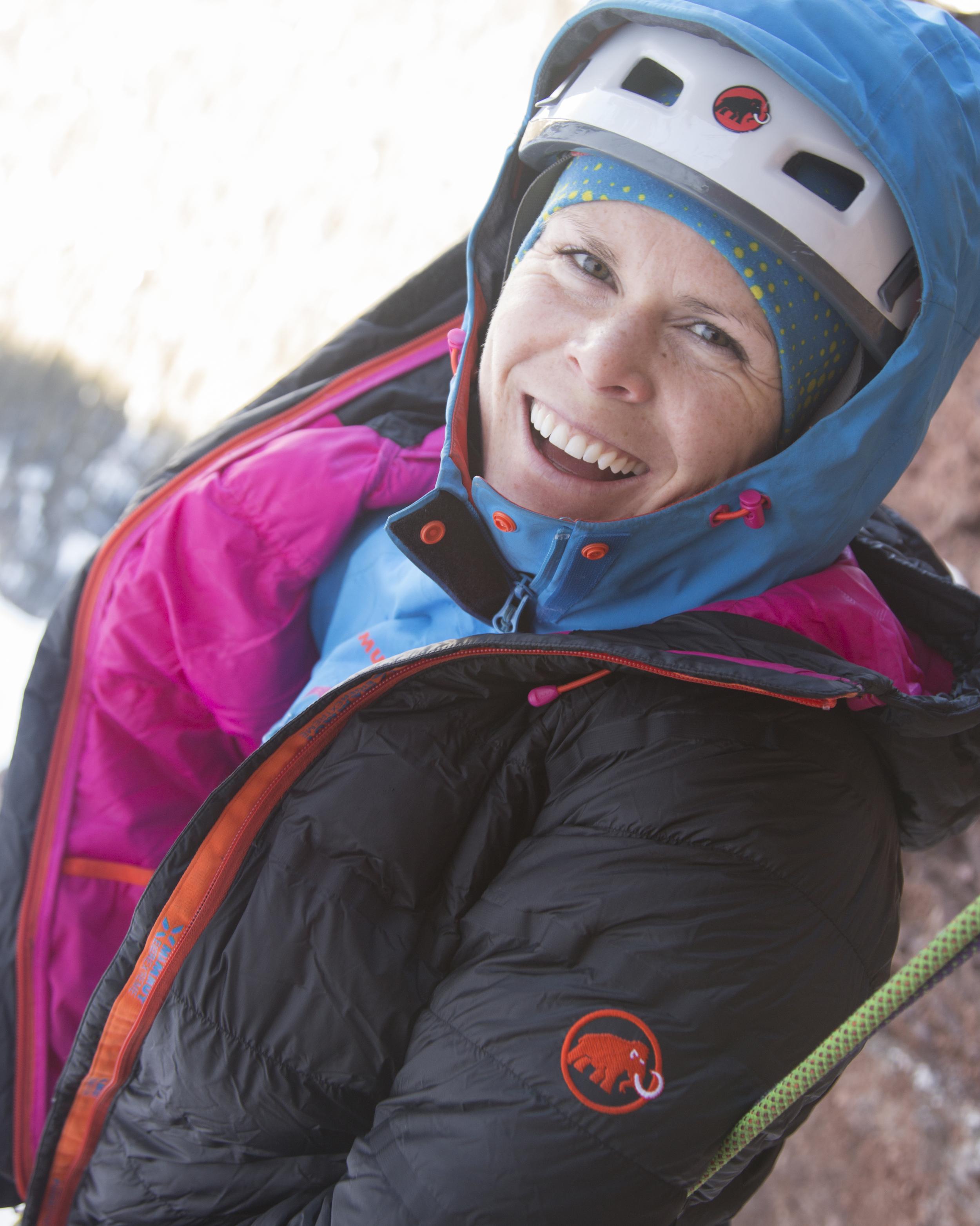 Having fun ice climbing! Photo: David Moskowitz