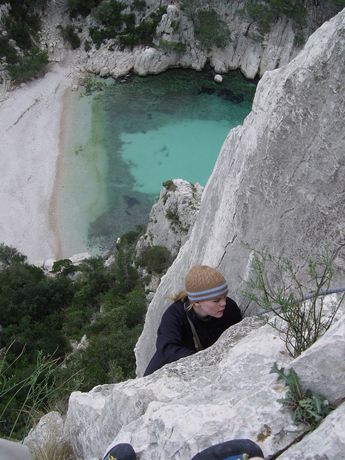 On my first multi-pitch climb back in 2004. Les Calanques, France. Photo: Chad VanderHam