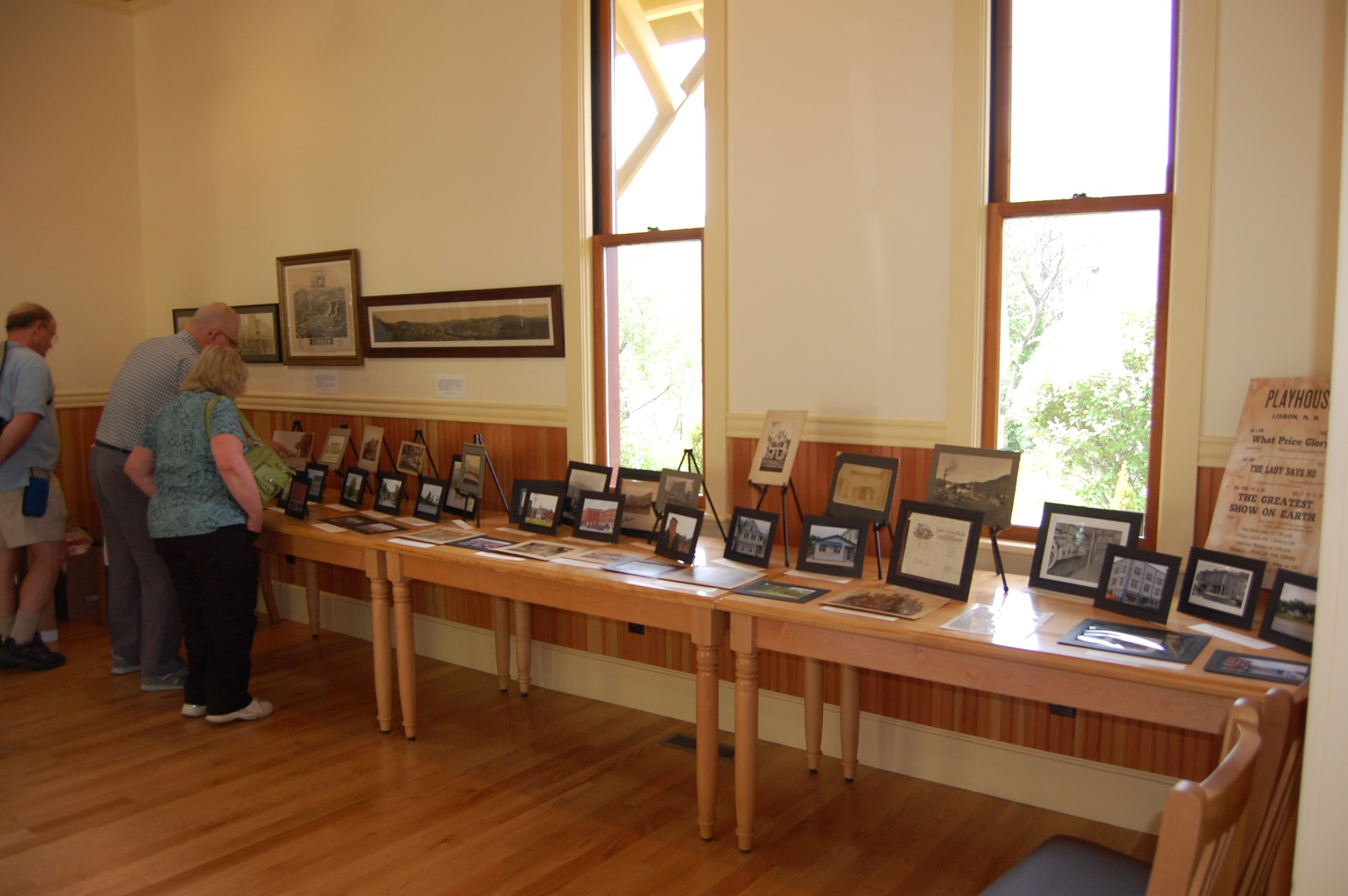 """2010 Lilac Time """"Lisbon Now and Then"""" display at the Lisbon Historic Railroad Station and Museum"""